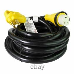 25 foot 50 amp RV Extension Cord Power Supply Cable for Trailer Motorhome Camper