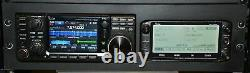 3U RACK MOUNT for ICOM ID-5100 & IC-7300 With RJ45 Mike Jack Extension & Options