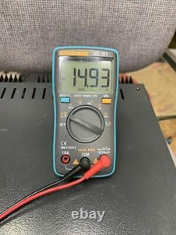 Astron RS-35M 35 Amp Regulated DC Power Supply with Dual Meters Working Nice Look