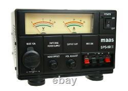 CB RADIO HAM SSB POWER SUPPLY SPS-50-II 8 AMP 220V AC 50-60 Hz 9-15V DC MAAS