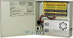 CCTV SECURITY CAMERA POWER Supply Distribution Box 12V DC 16ch 30 Amps PTC Fuse