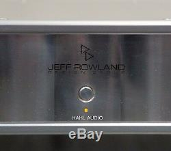 Jeff Rowland Model 10 amp. Upgraded linear power supply. $13,000 MSRP
