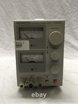 $ Kenwood PR18-3A Regulated DC Power Supply 0-18 Volts / 0-3 Amps
