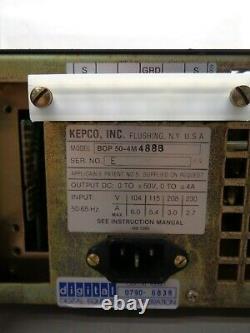Kepco BOP50-4M 200W 0- +/- 50V 0- +/- 4A Bipolar Operational Power Supply/Amp