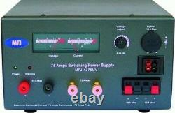 MFJ-4275MV 75 Amps Switching Power Supply 13.8V 75A Meters