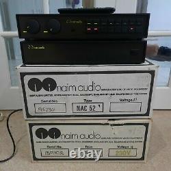 Naim Nac 52 & Super Cap Olive Remote Na 52 Na 34 Pre Amp Power Supply Amplifier