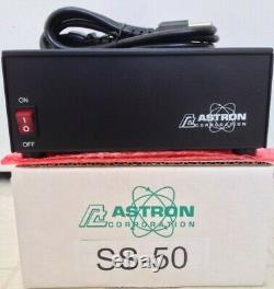 New Astron Ss-50 Commercial Power Supply 50a Business Radio Ham Linear Amp Ssb