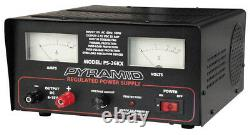 PYRAMID PS26KX POWER SUPPLY 25 AMP 6-15 VOLT WithCOOLING FAN