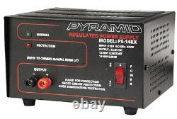 Pack of (2) Pyramid PS14KX 12-Amp Regulated Power Supply 115V/AC 60Hz/270W