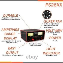 Pyramid PS26 22 AMP 25 SURGE 12-15 VOLT ADJUSTABLE POWER SUPPLY COOLING FAN