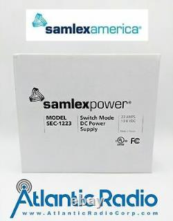 Samlex Power Supply Model SEC-1223 Switch Mode DC Power Supply 23Amps 13.8 VDC
