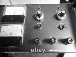 TAKASAGO DC LABORATORY POWER SUPPLY CONSTANT Amps/Volts 0.110VDC GP0110-10R