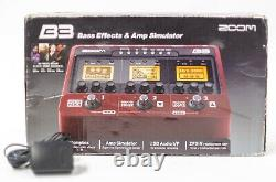 Zoom B3 Bass Effects and Amp Simulator Effect Pedal with Box and Power Supply