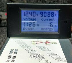 12 Volt 100 Amp Metered Alimentation Volts Ampère Watts Watt Compteur Horaire