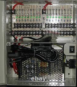 18 Ch Caméra Vidéo Cctv Security 12 Volts Power Supply Box 12v DC 10 Amp Amp Amp Fusionné