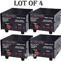 4 Lot Pyramid Ps3kx 3amp 12volt DC Alimentation Électrique Pour Téléphones Cb Ham Radio Scanner