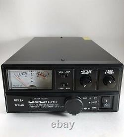 60 Amp 12v Delta Dps60m Ac/dc Alimentation Électrique Avec Volt Amp Meter Ham Cb Radio