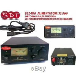 832-nfa Alimentatore 32 Amp Commutation Ad Alta Efficienza Voltometro / Amperometro