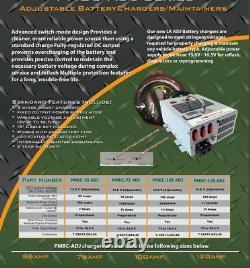 Alimentation Powermax Pmbc-120 - Chargeur De Batterie De 12 Volts De 120 Ampères