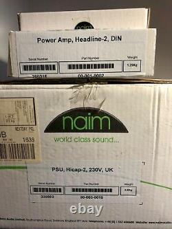 Amplificateur D'écoute Naim Headline-2 Et Alimentation Naim Hicap-2