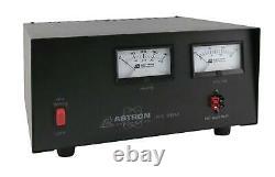 Astron Rs-35m-ap Top 35 Amp Table Régulée DC Alimentation Avec Deux Compteurs