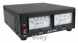 Astron Ss-25m Compact Table Top 25 Amp DC Alimentation Électrique Avec Dual Meters