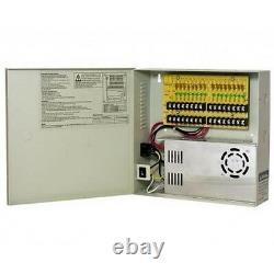 Boîte De Distribution D'alimentation D'alimentation Cctv 12vdc 16ch 7h 30 Ampères, Pour Caméras Infrarouges