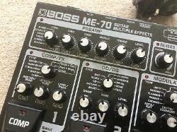 Boss Me-70 Multieffects Avec Des Modèles D'amplis Près De Mint Free Power Supply
