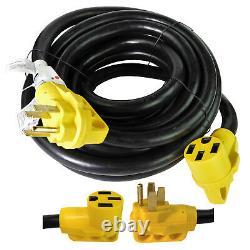 Câble D'alimentation De 30 Pieds 50 Ampères Rv Extension Cord Power Supply Pour Trailer Motorhome Camper