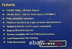 Caravan Mains 20 Amplificateurs D'alimentation Et Chargeur De Batterie Ps276-1-bcsm (po120)