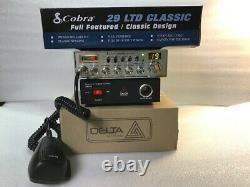 Cobra 29 Ltd Classic Cb Radio Peaked/tuned Avec Dps10 10 Amp Power Supply Emballage