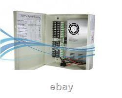 DC 12v 18ch 29 Amps Power Boîte De Distribution Pour La Sécurité Camera Ul-list