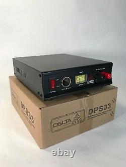 Delta Dps33 33 Amp 12-13.8v Ac/dc Alimentation Électrique Avec Volt Amp Meter Ham Cb Radio
