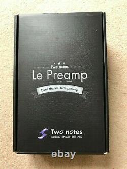 Deux Notes Le Clean Valve Pré-ampli Pédale Avec Boîte D'origine Et Alimentation