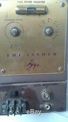 Fisher Tube 80az De Ampli, Paire, Travail, Alimentation Amélioré, Casquettes De Couplage Remplacé