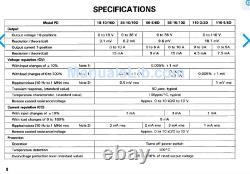 Kenwood Pd56-10d Alimentation À Courant Continu Réglable 56v 10 Amps