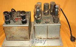 Mcintosh 50 W-2 Tube Amp + P-50-d Alimentation De 1950 Tous Les Rares D'origine