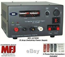Mfj 4275mv 75 Amp De Commutation D'alimentation Avec Compteur, 4-16 Volts Nouveau Réglable