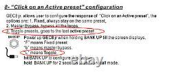 Moen Canada Gec 8 Jr. V3 Effets Looper 8 Loops 80 Prereglage Amp Commutation 2019