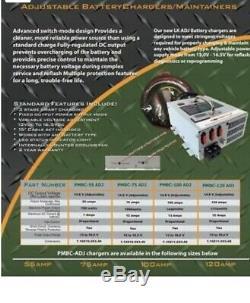New Powermax Pbmc-100 100 Amp 12 Volt Chargeur De Batterie Alimentation Pbmc-100adj