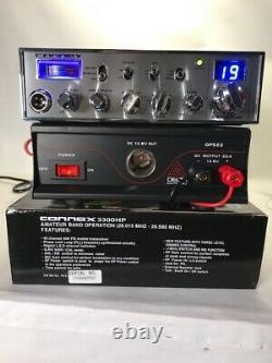 Nouveau! Radio Connex Cx-3300hp Avec Dps22 22 Amp Alimentation Haute Sortie Audio Fort