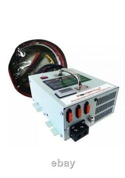 Nouvelle Alimentation Powermax Pmbc-120 120 Amp 12 Volt Chargeur De Batterie Avec Câbles