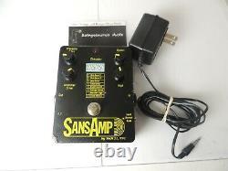 Original Tech 21 Sansamp Amp Modeler Overdrive Effects Pedal Withpower Supply