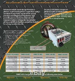 Powermax Pbmc-100 - 100 Amp 12 Volt Chargeur De Batterie D'alimentation