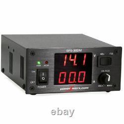 Powerwerx Sps-30dm 12 Volt 30 Amp DC Power Supplément Variable Avec Métres