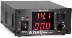 Powerwerx Sps-30dm Variable De 30 Ampères De Bureau Alimentation Avec Des Compteurs Numériques