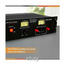 Pyramid Bench Power Supply Ac To DC Power Converter 50 Amp New Ps52kx Rack Mount