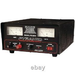 Pyramid Ps36kx 35-amp Power Supply Avec Ventilateur De Refroidissement Intégré
