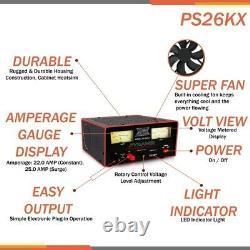 Pyramide Ps26 22 Amp 25 Surge 12-15 Volt Ventilateur Réglable De Refroidissement De L'alimentation Électrique