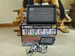 Roland Street Cube Batterie Amp Et Genuine Roland Power Supplément Encore En Boîte Agréable
